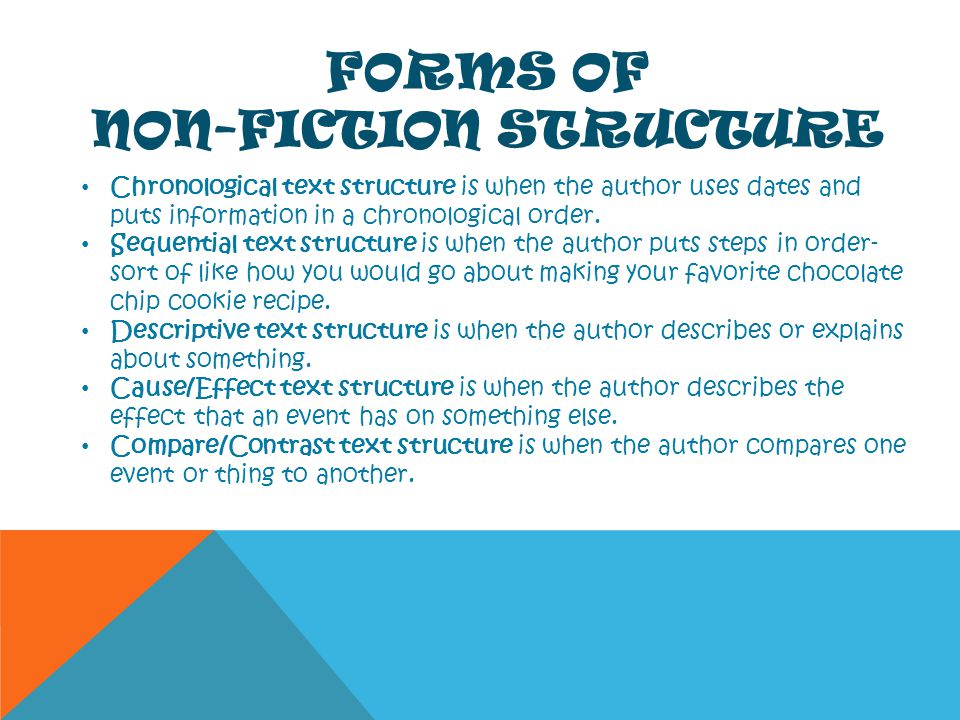Forms of Non-Fiction Structure