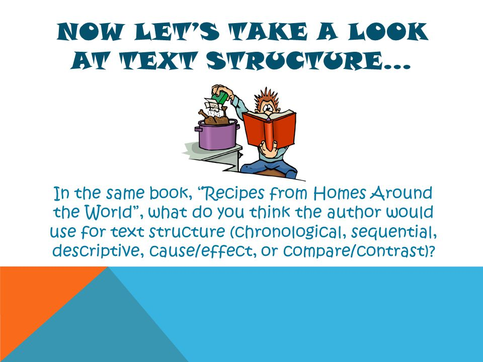 Now Let's take a look at text Structure…