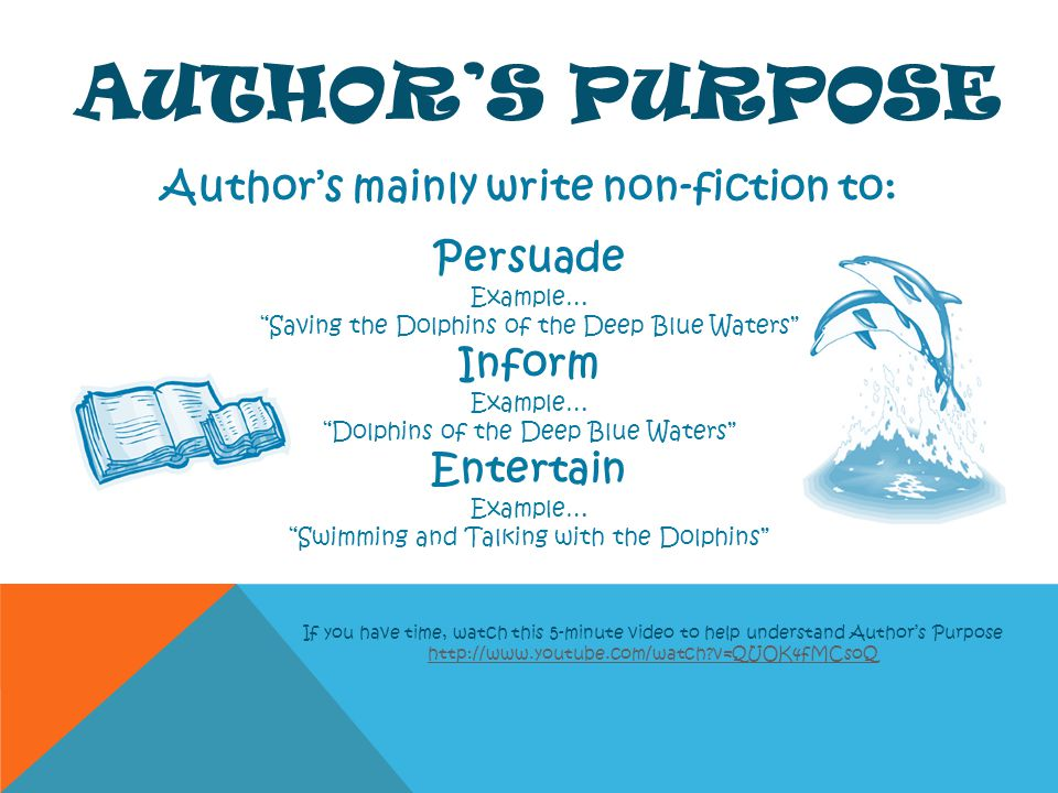 Author's mainly write non-fiction to: