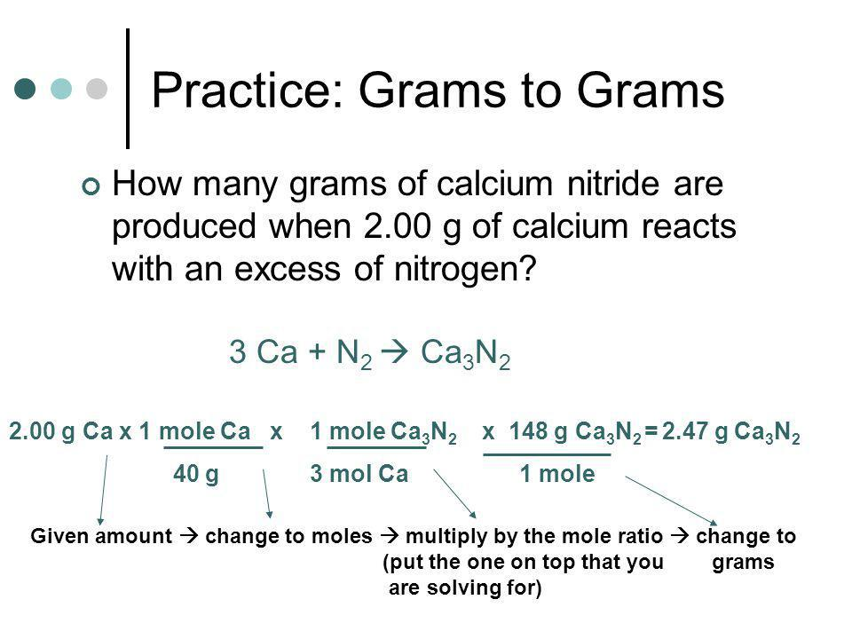 Practice: Grams to Grams