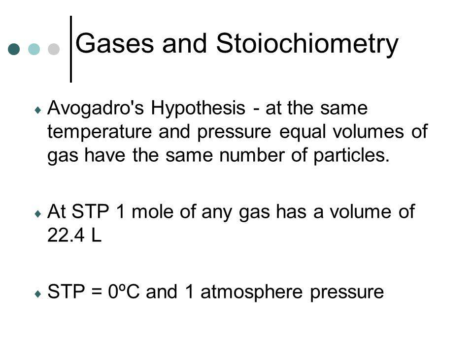 Gases and Stoiochiometry