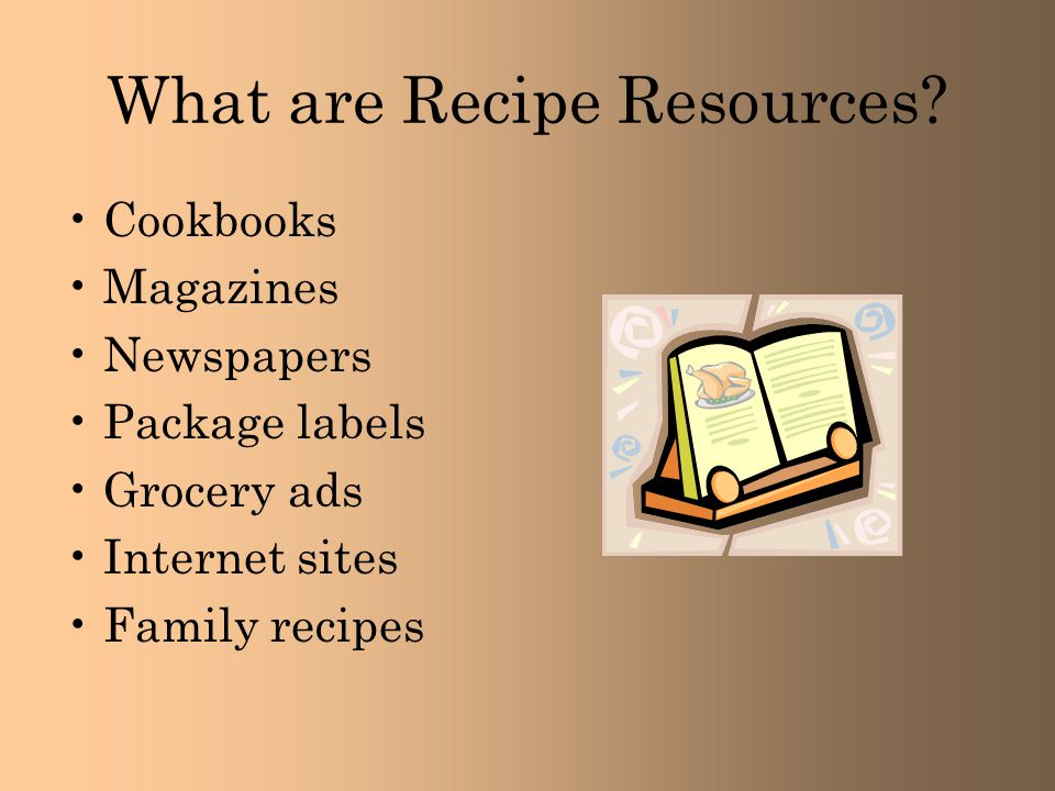 What are Recipe Resources