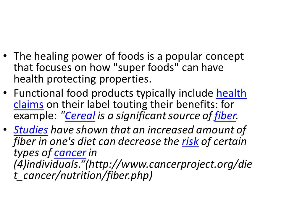 The healing power of foods is a popular concept that focuses on how super foods can have health protecting properties.