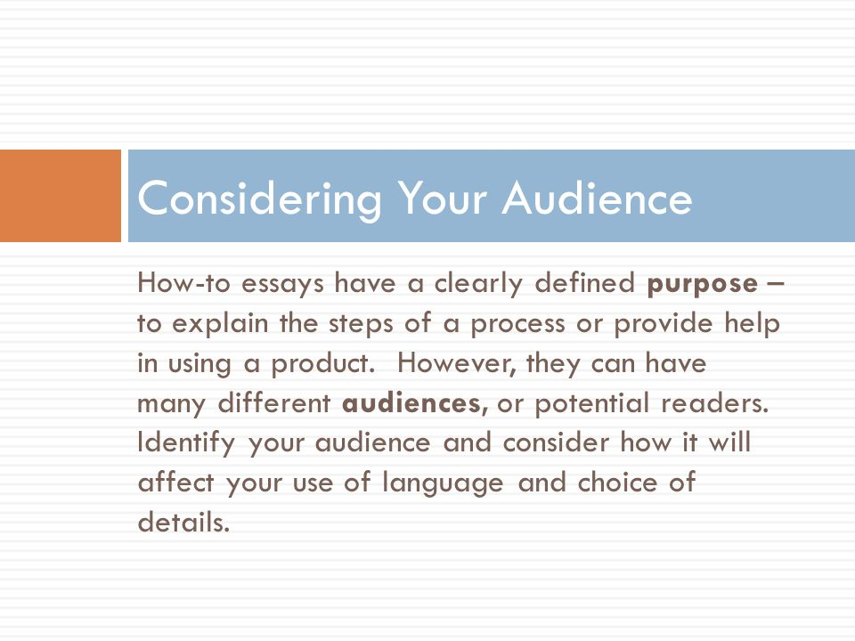Considering Your Audience