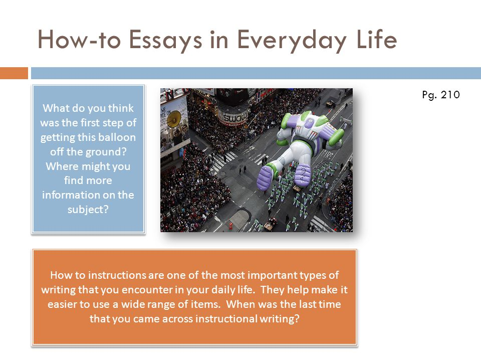 How-to Essays in Everyday Life