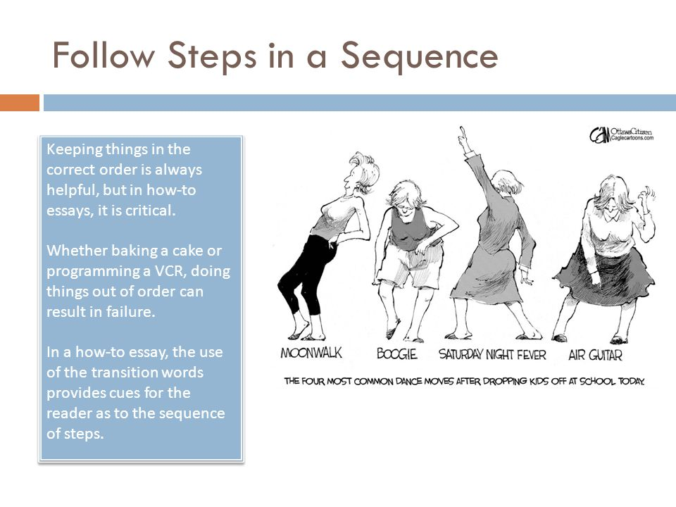 Follow Steps in a Sequence