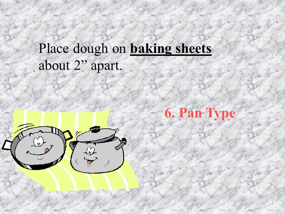 Place dough on baking sheets about 2 apart.