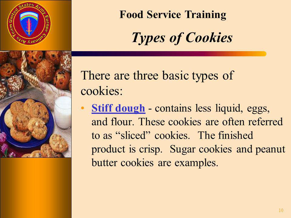 Types of Cookies There are three basic types of cookies: