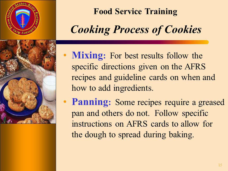 Cooking Process of Cookies