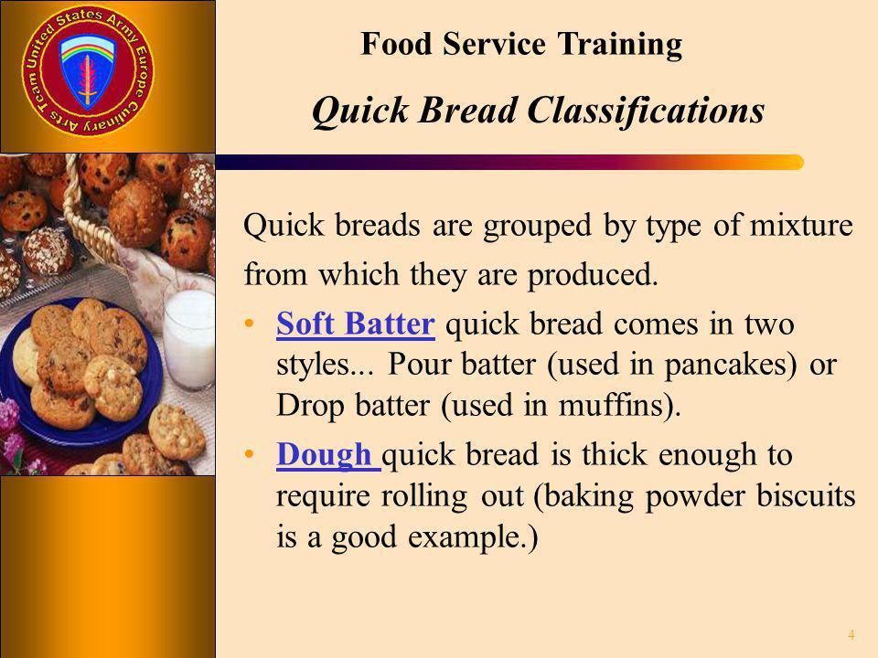 Quick Bread Classifications