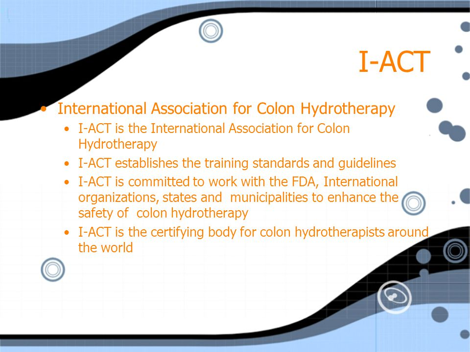 I-ACT International Association for Colon Hydrotherapy