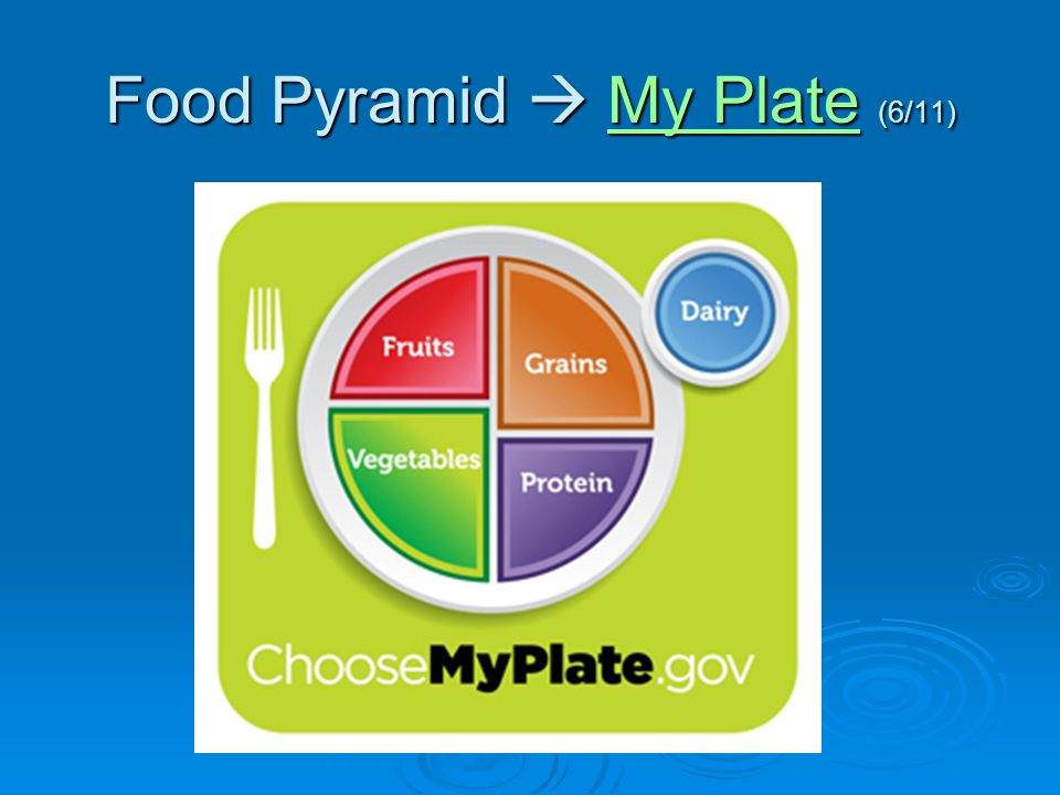 Food Pyramid  My Plate (6/11)