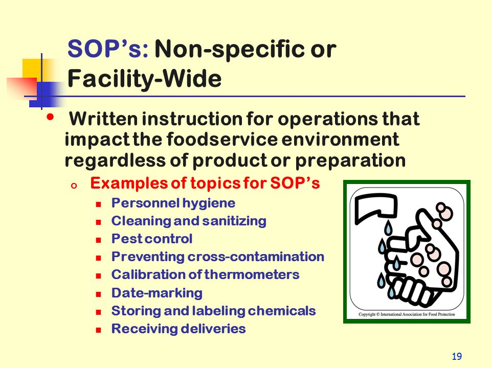 SOP's: Non-specific or Facility-Wide