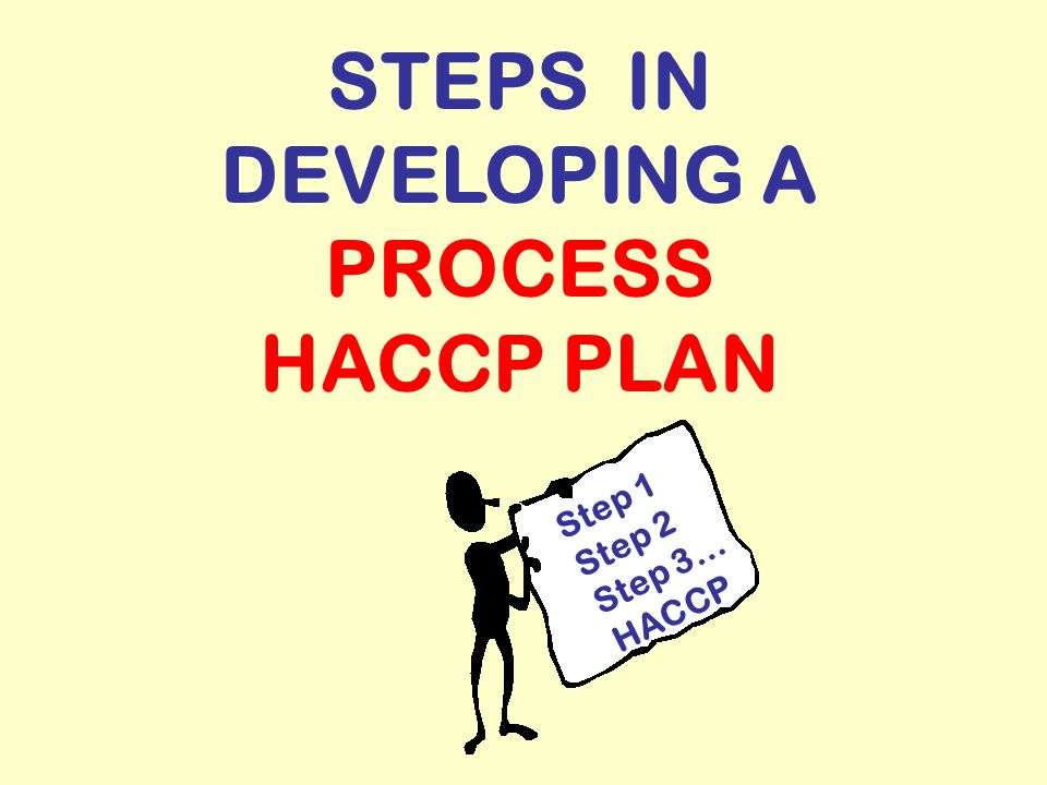 STEPS IN DEVELOPING A PROCESS