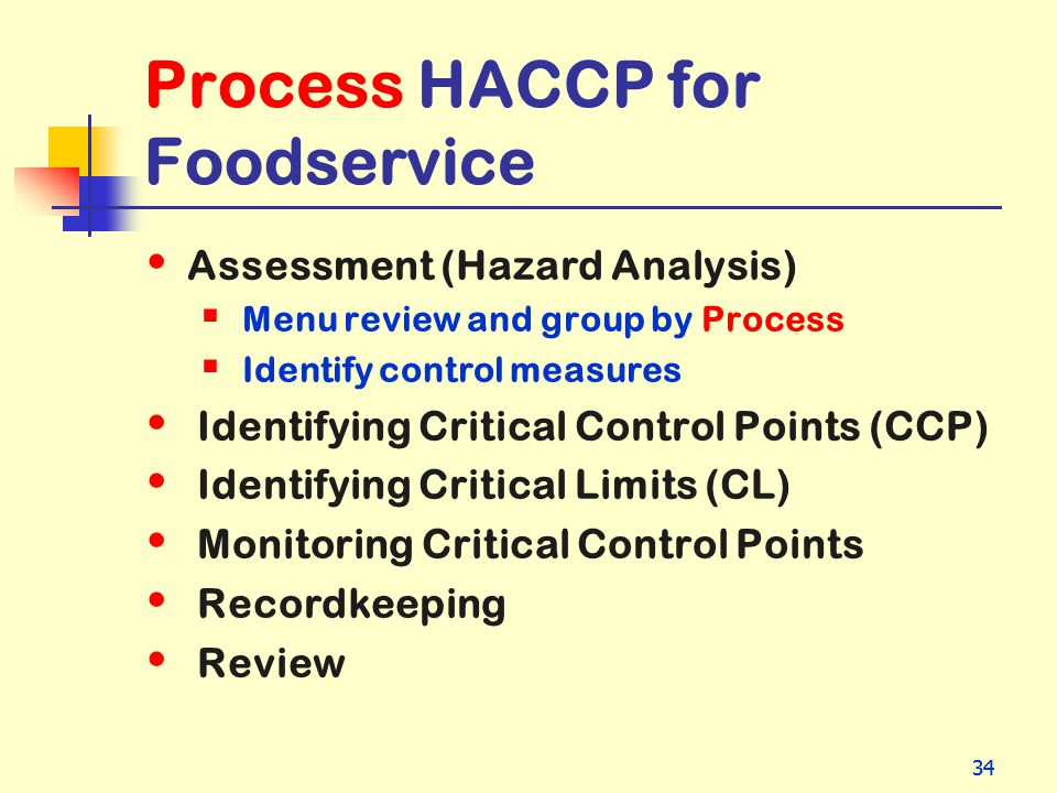 Process HACCP for Foodservice