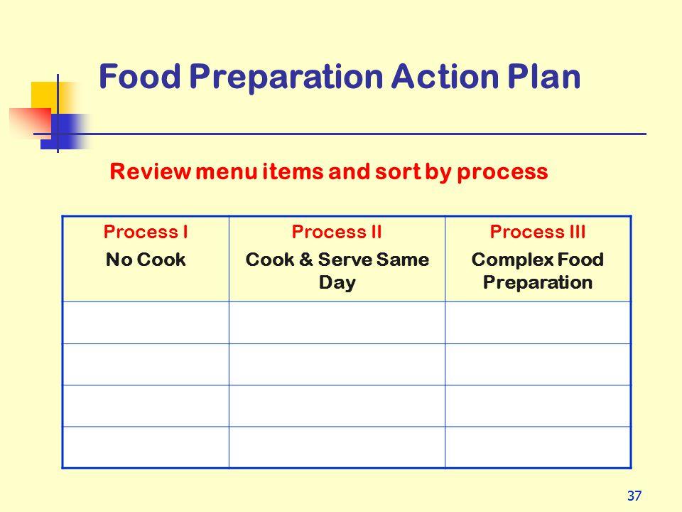 Complex Food Preparation