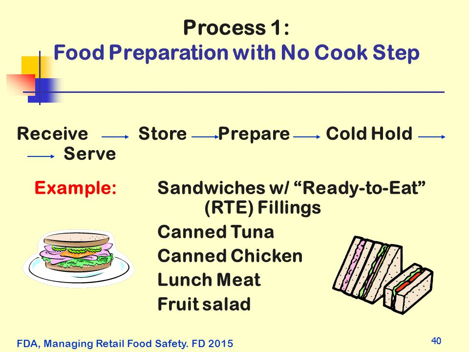 Process 1: Food Preparation with No Cook Step