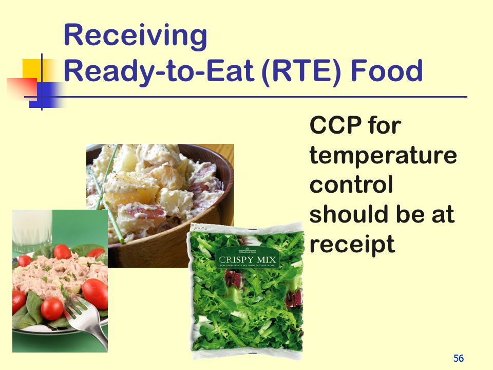 Receiving Ready-to-Eat (RTE) Food