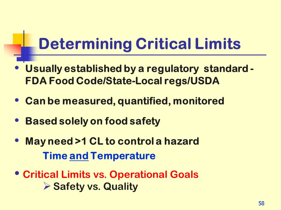 Determining Critical Limits