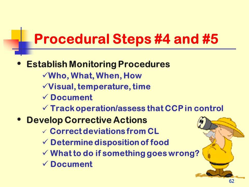 Procedural Steps #4 and #5