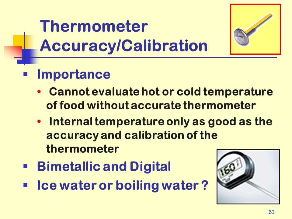 Thermometer Accuracy/Calibration
