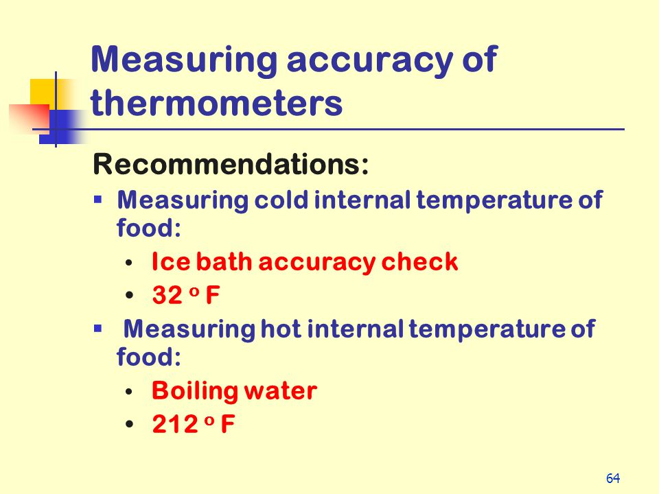 Measuring accuracy of thermometers