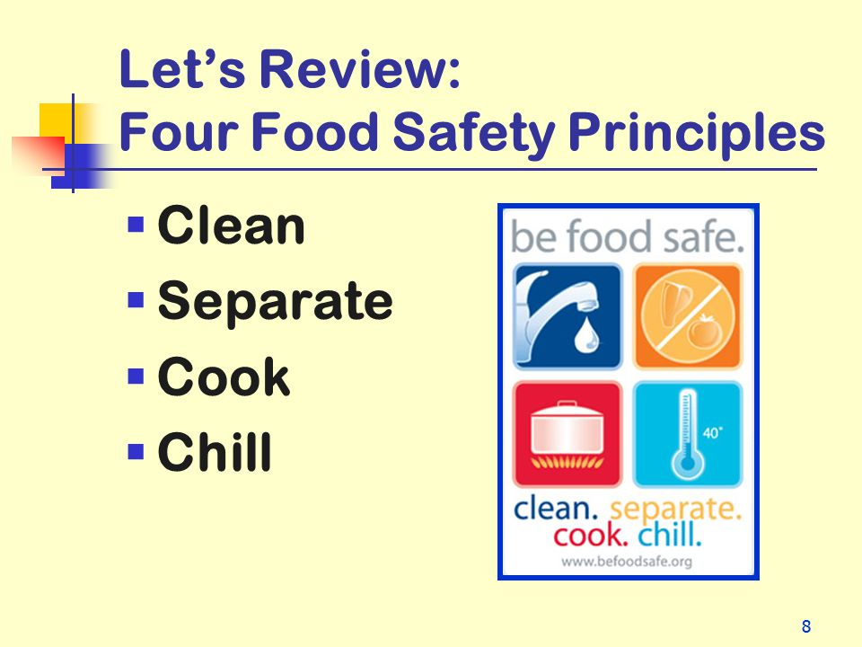 Let's Review: Four Food Safety Principles