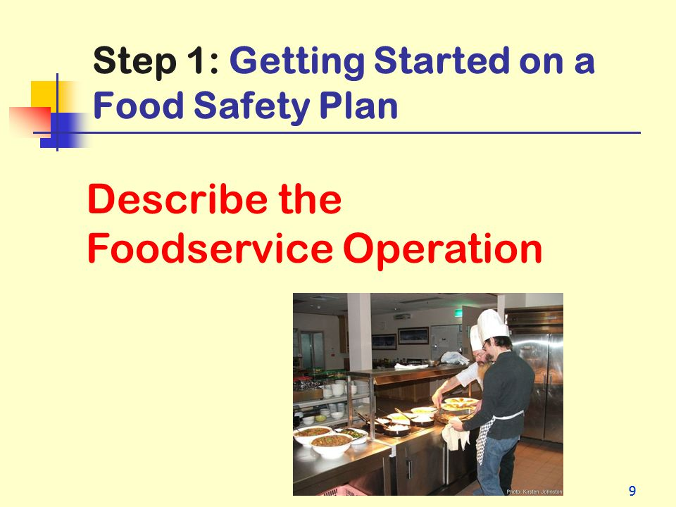 Step 1: Getting Started on a Food Safety Plan