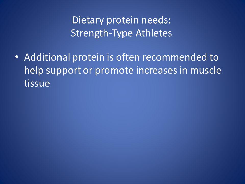 Dietary protein needs: Strength-Type Athletes