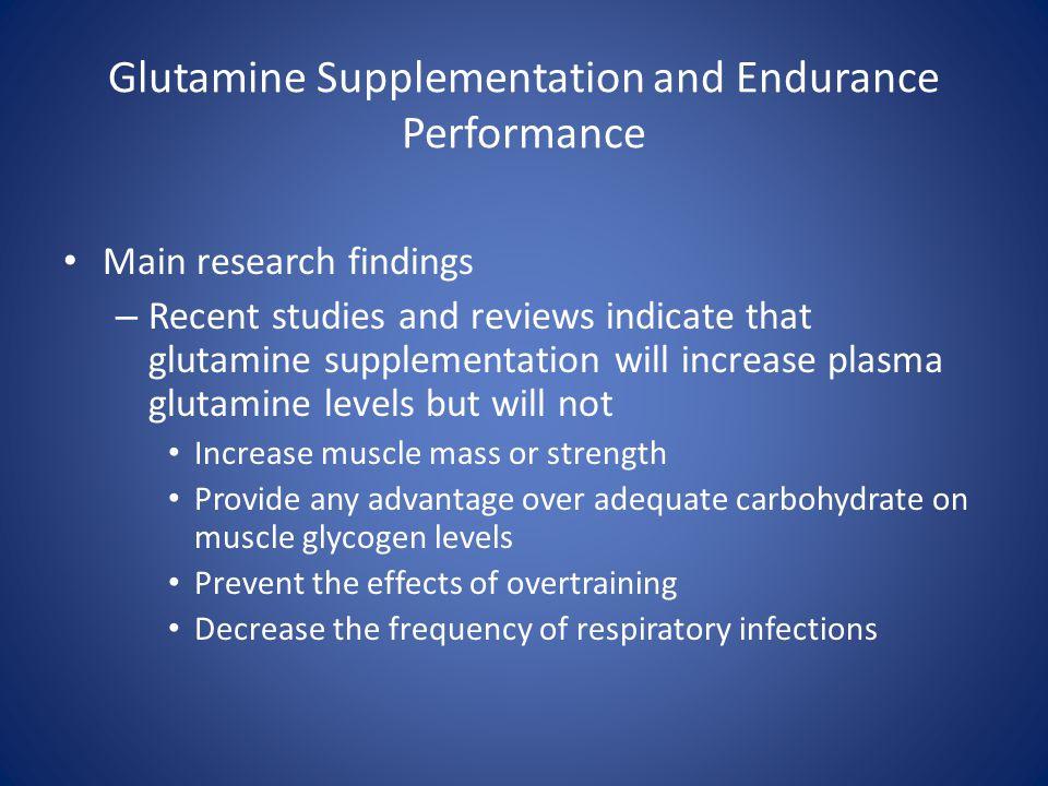 Glutamine Supplementation and Endurance Performance