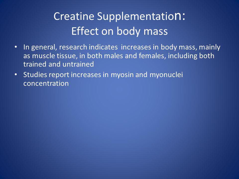 Creatine Supplementation: Effect on body mass