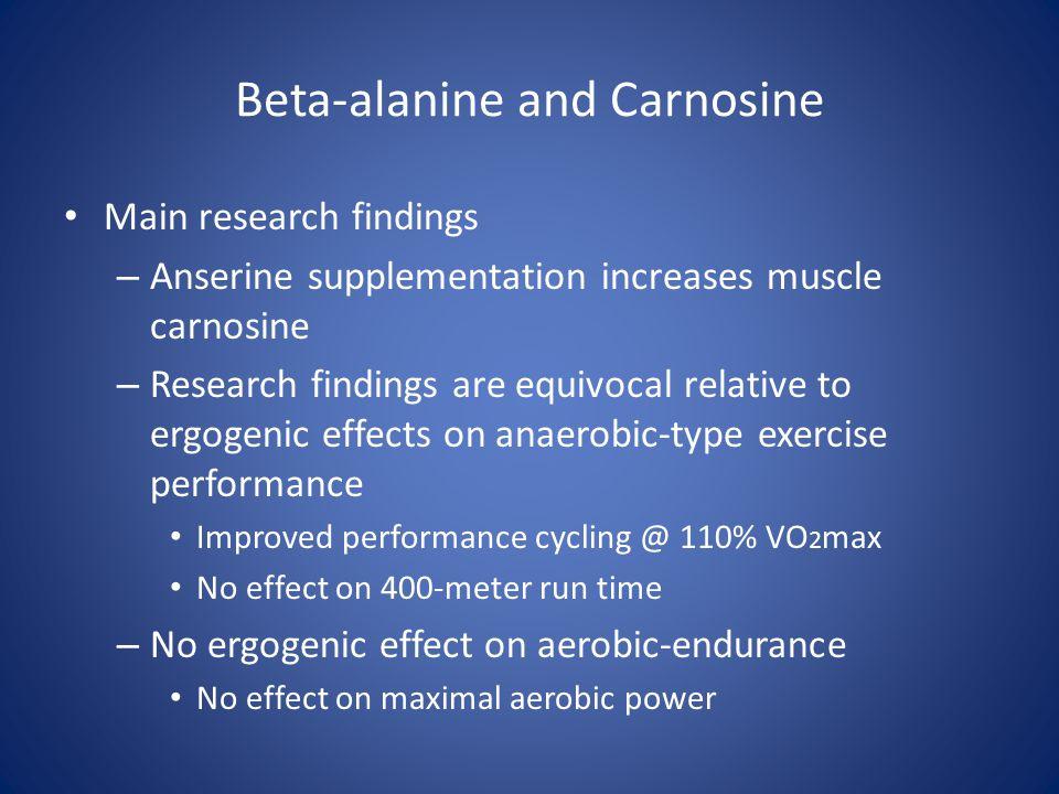 Beta-alanine and Carnosine