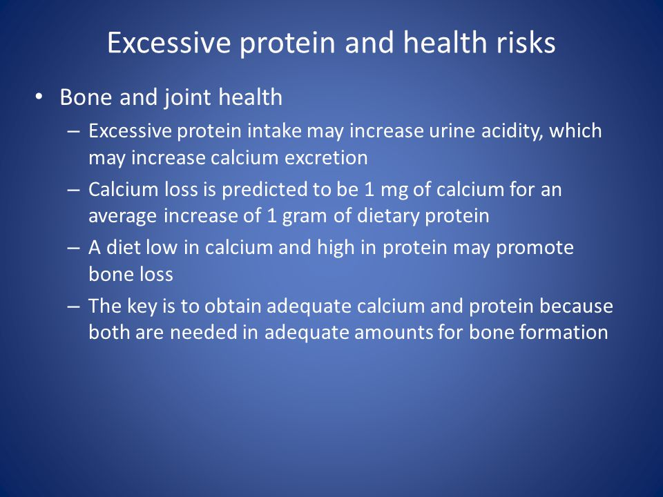 Excessive protein and health risks