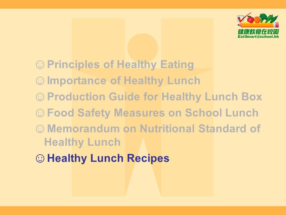 Principles of Healthy Eating