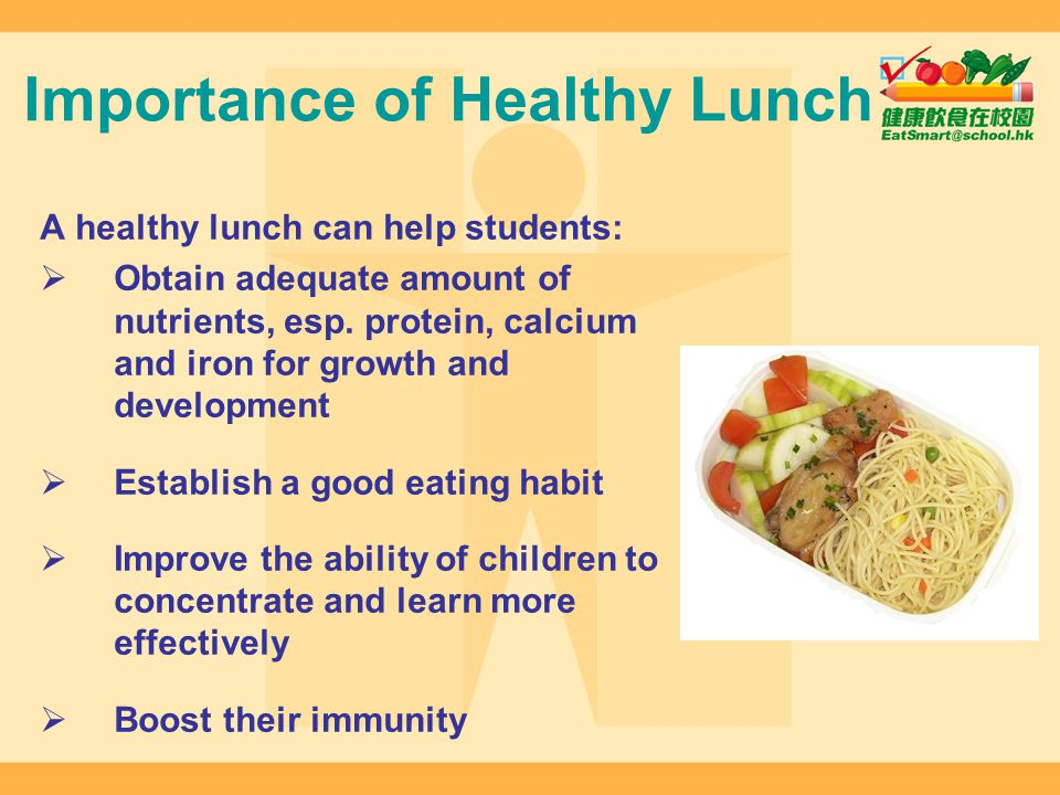 Importance of Healthy Lunch