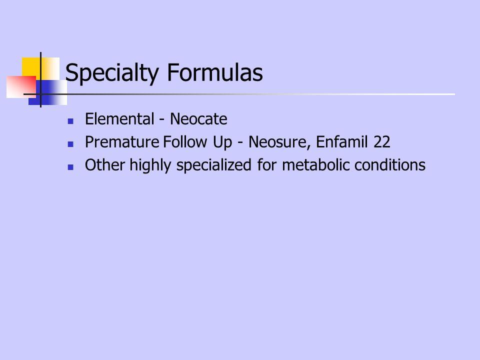 Specialty Formulas Elemental - Neocate