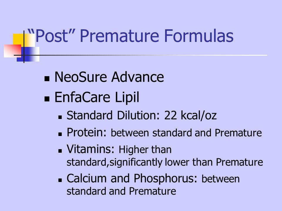 Post Premature Formulas
