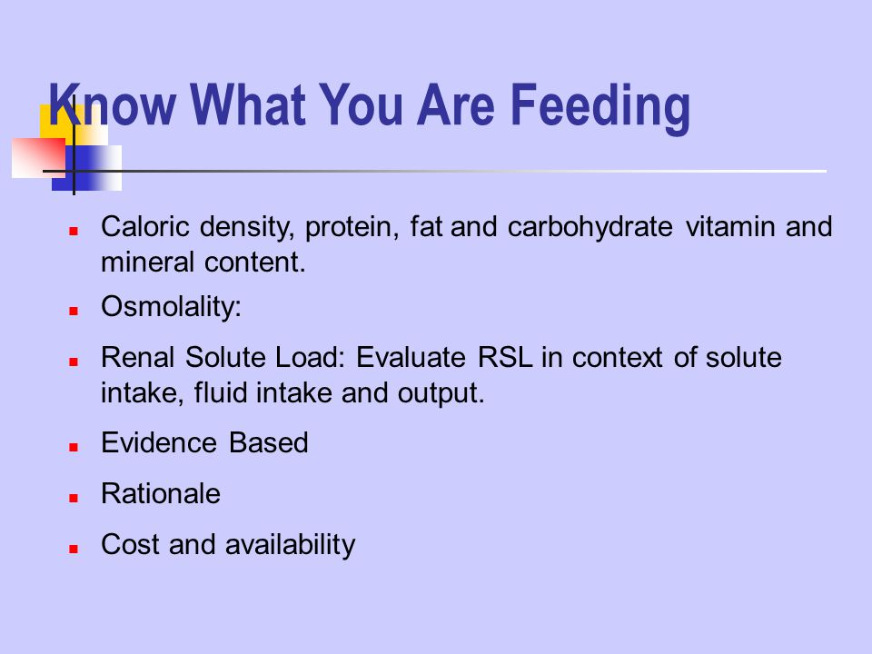Know What You Are Feeding
