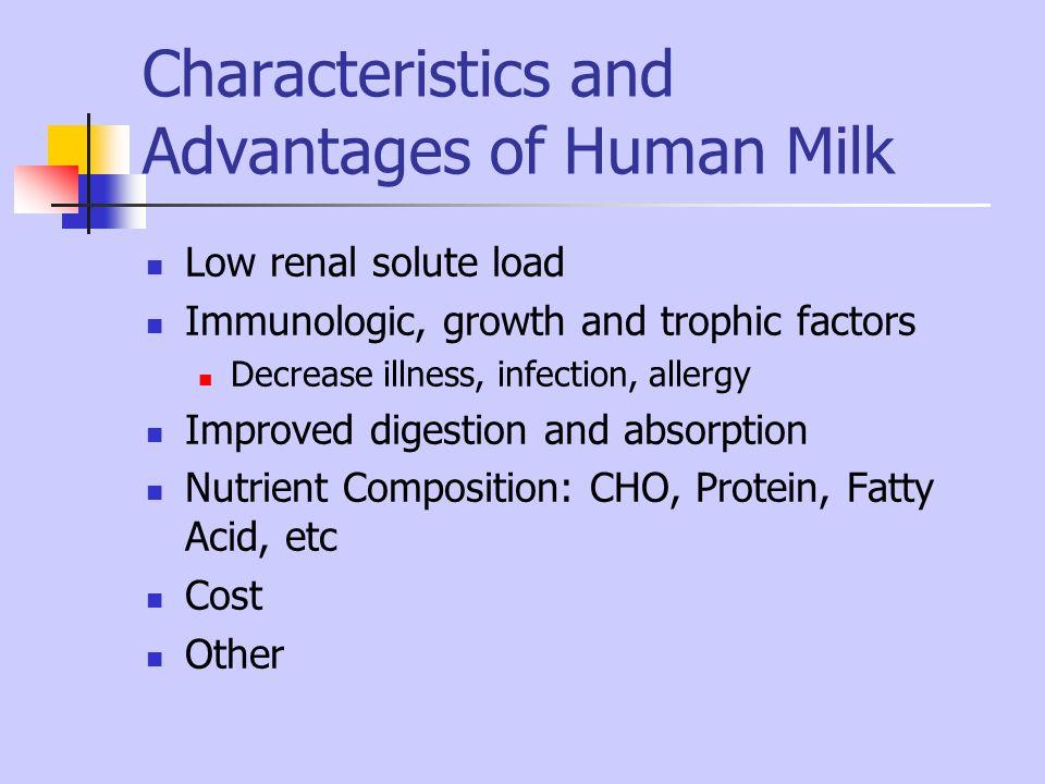 Characteristics and Advantages of Human Milk