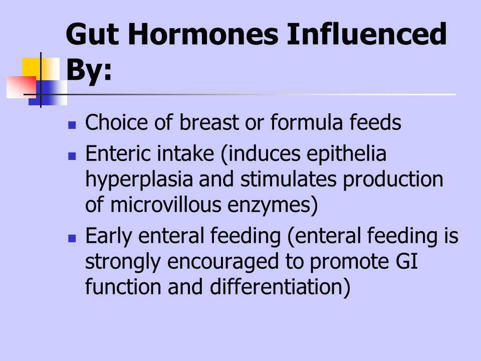Gut Hormones Influenced By: