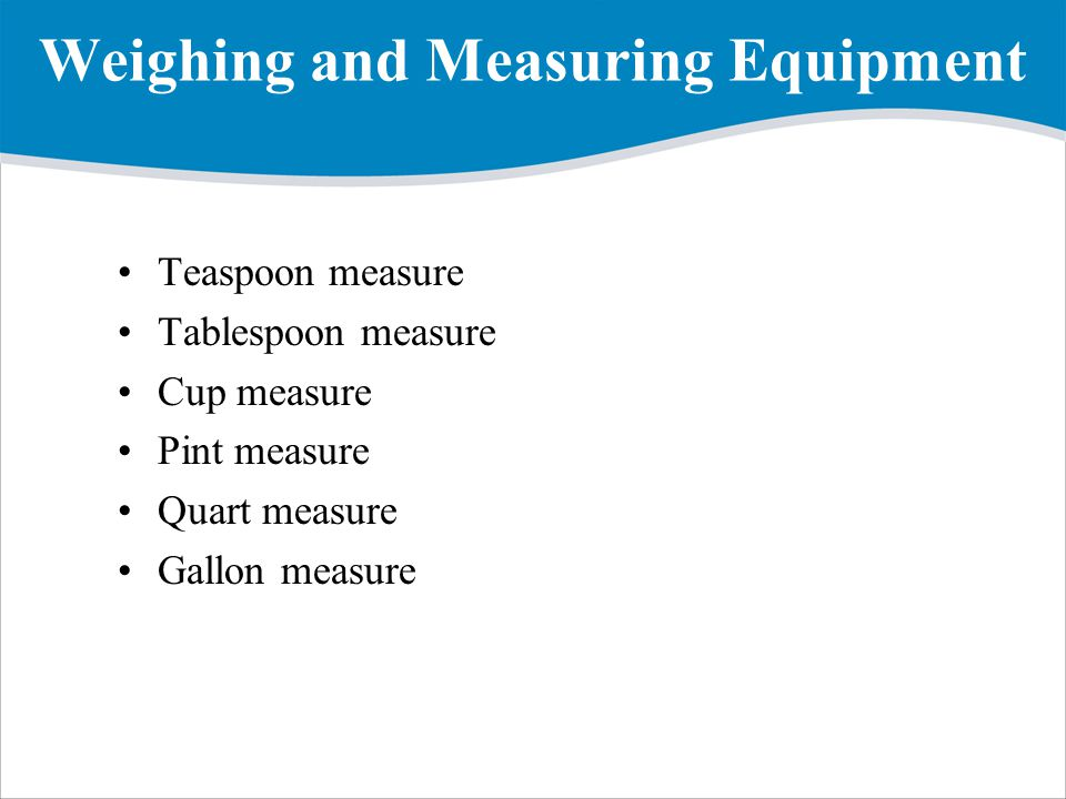 Weighing and Measuring Equipment