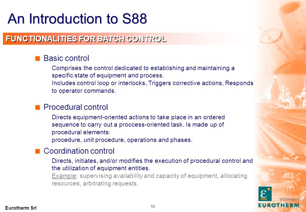An Introduction to S88 MODELS RELATIONSHIP Procedural model