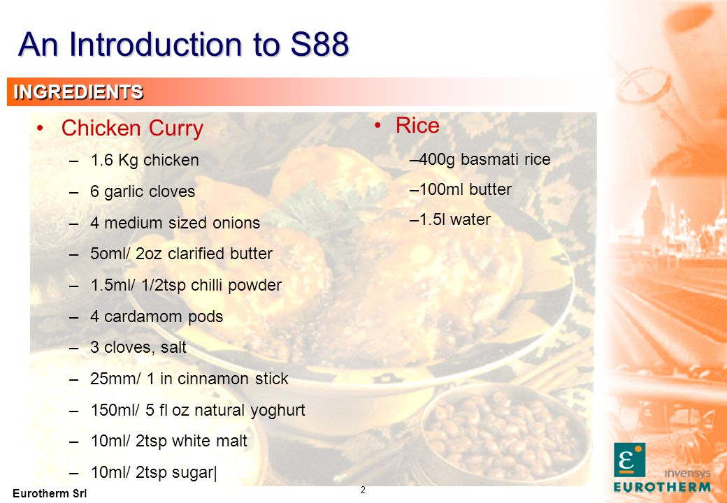An Introduction to S88 Fry Simmer PREPARE CHICKEN CURRY
