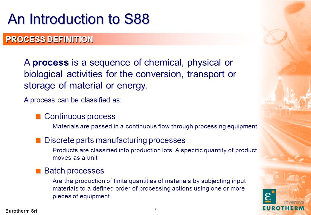An Introduction to S88 PROCESS MODEL Process