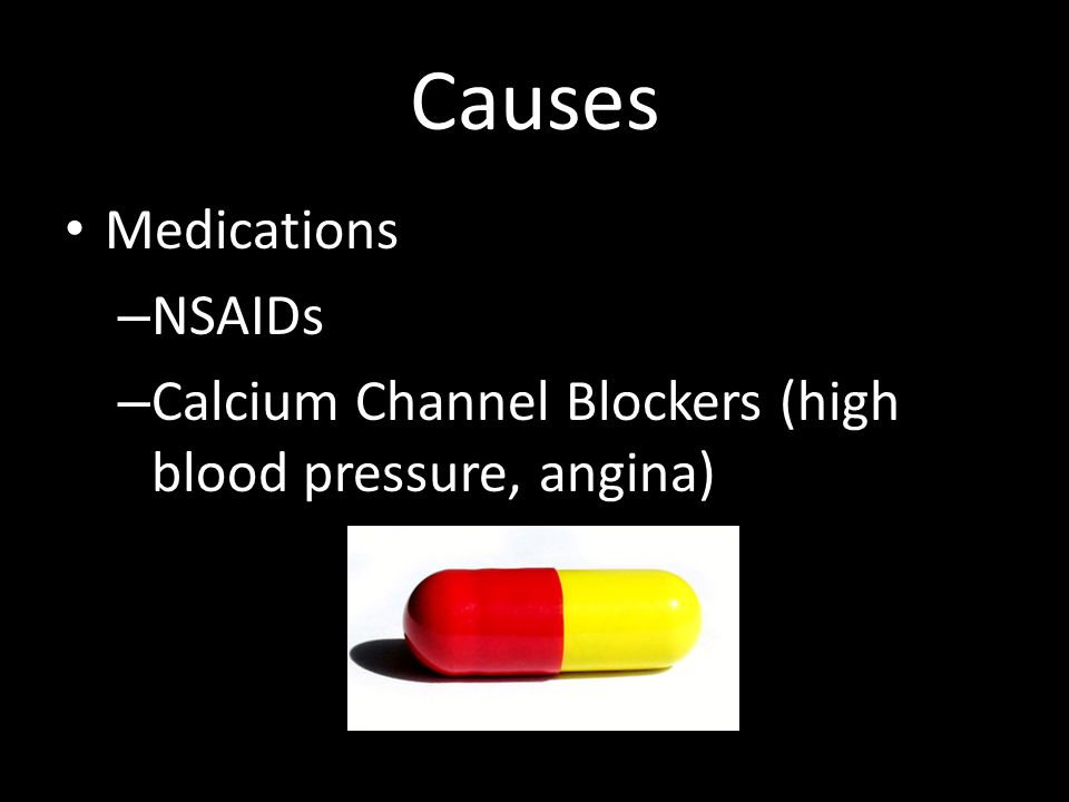 Causes Medications NSAIDs