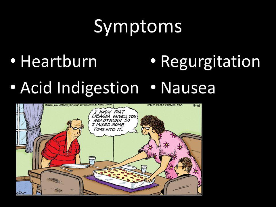 Symptoms Heartburn Acid Indigestion Regurgitation Nausea