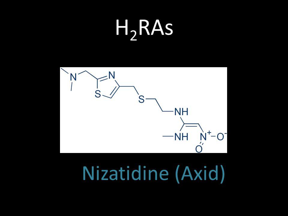 H2RAs Nizatidine (Axid)