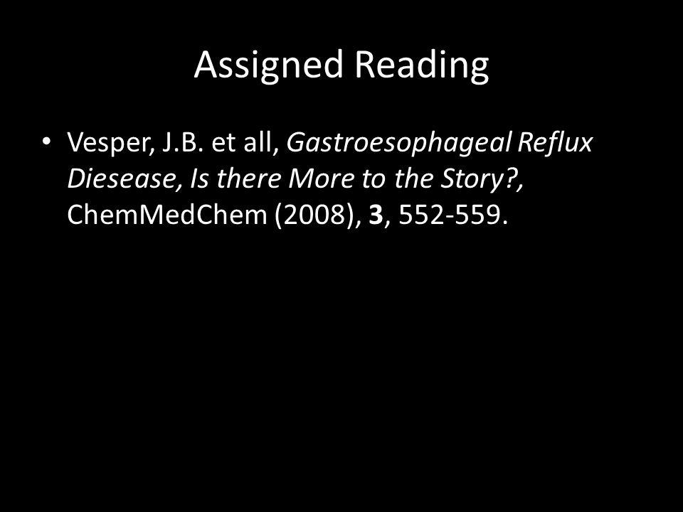 Assigned Reading Vesper, J.B.