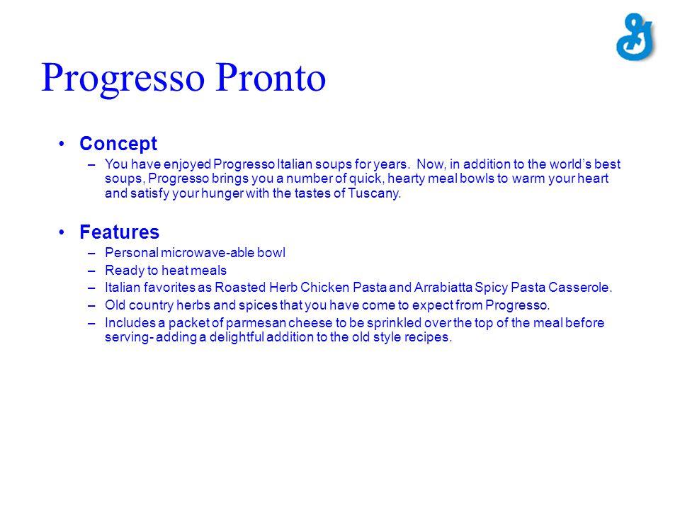 Progresso Pronto Concept Features