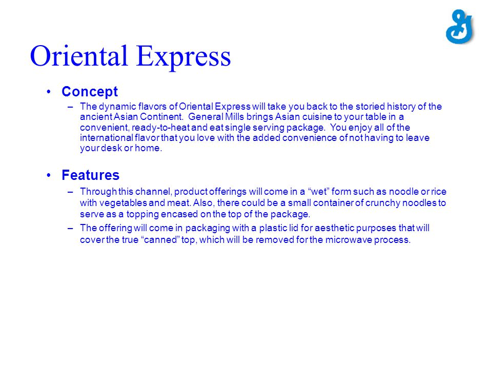 Oriental Express Concept Features